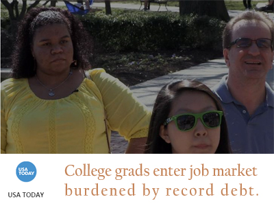 College grads leaving with record debt